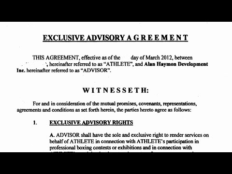 WOULD YOU SIGN AL HAYMON'S EXCLUSIVE ADVISORY AGREEMENT? FULL CONTRACT READING! FIGHTERS NO SAY?