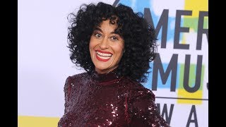 Tracee Ellis Ross reads her book for 'Handsy' men