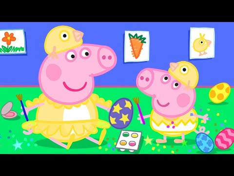 Peppa Pig Official Channel   Easter Colouring At Home With Peppa Pig