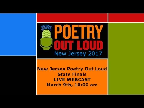 New Jersey Poetry Out Loud State Finals 2017