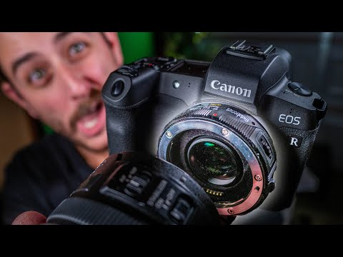 Canon EOS R + Speed Booster = FIXED 4K CROP! (Metabones EF To RF Adapter First Look)