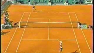 Steffi Graf Backhand Slice (Slow Motion)