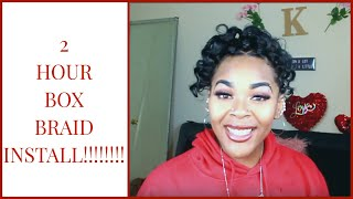 BOX BRAID CURLY PONYTAIL ll EASY PRODUCTIVE STYLE