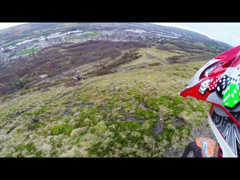 """CRF 450r + KTM 250 SXF """"Mountain Trails and hill Climbs In wales"""""""
