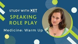 Speaking Role Play (Medicine): Warm-Up