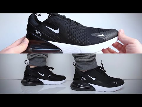 Nike Air Max 270 'Black' (sneaker review) UNBOXING & ON