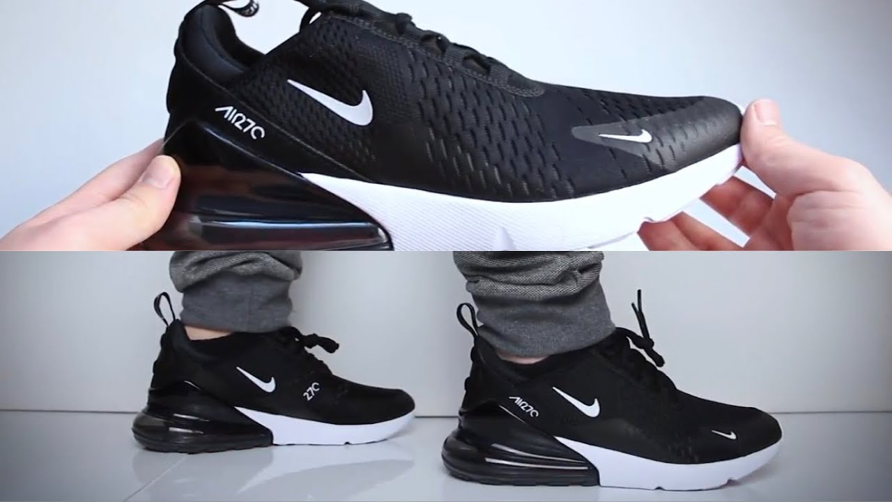 brand new eebe6 3f4d9 Nike Air Max 270 'Black' (sneaker review) - UNBOXING & ON FEET