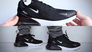 Nike Air Max 270 'Black' (sneaker review) - UNBOXING & ON FEET