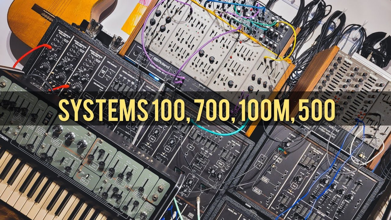 Together at last! All of Roland's Analogue Systems