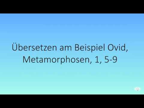 Download Latein übersetzen am Beispiel von Ovids Metamorphosen (1, 5-9, Weltentstehung)