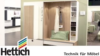 Technology For Furniture In The Hallway: Sliding Doors + Drawers Made By Hettich