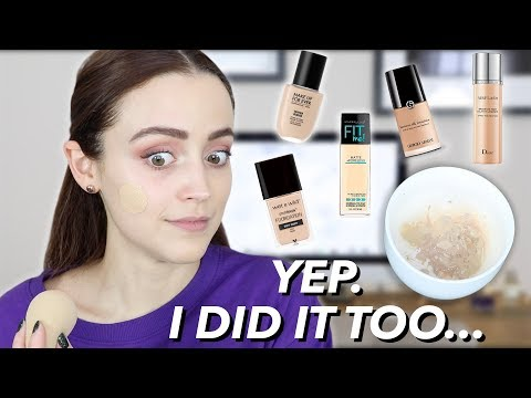 MIXING ALL MY FOUNDATIONS TOGETHER | I got sucked in