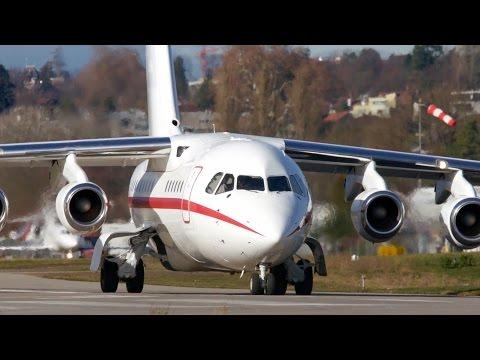 FORMULA 1 British Aerospace Avro RJ70 Take-Off at Bern Airport