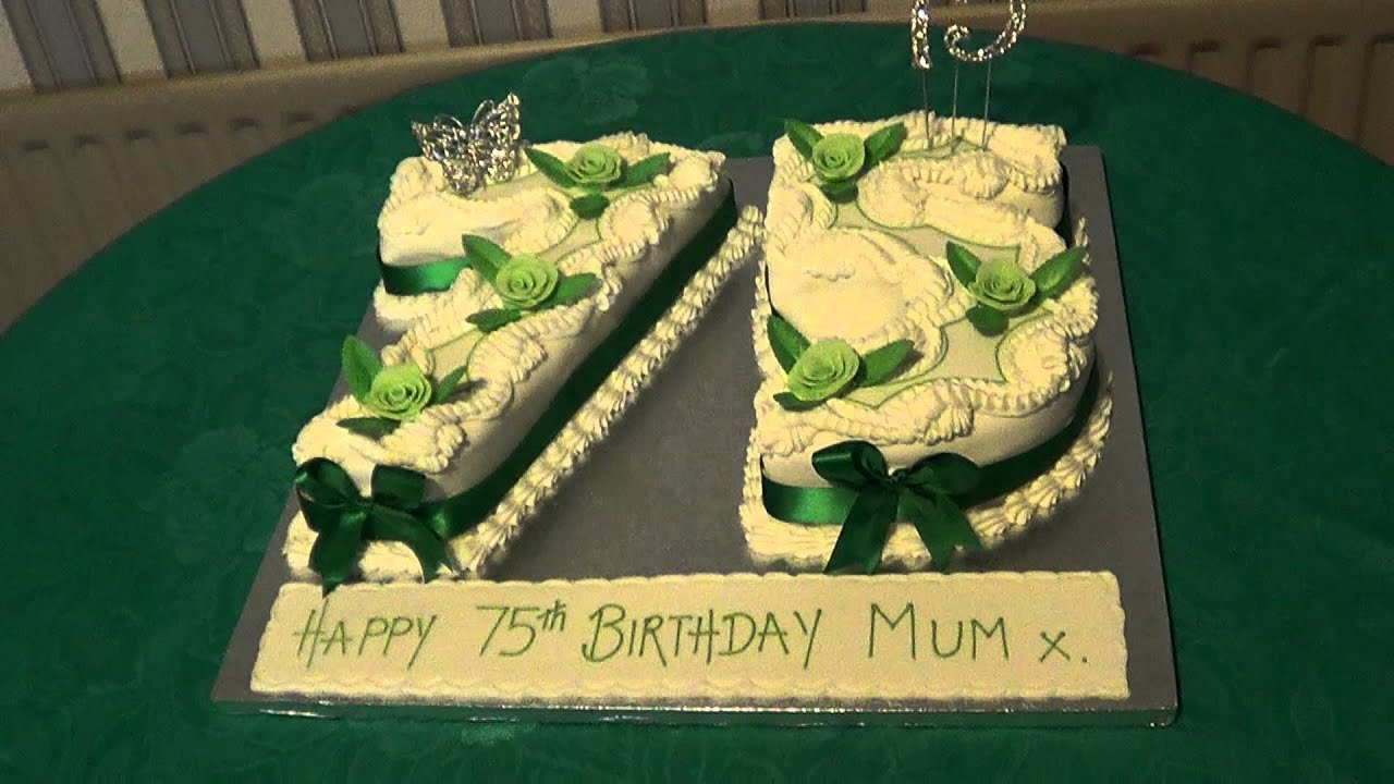 1 10112012 Lauras Grandmothers 75th Birthday Cake Youtube