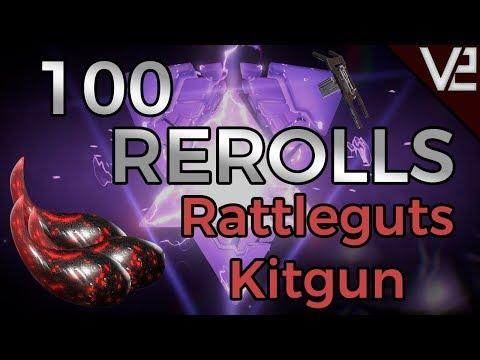 Warframe - 100 Rerolls: Rattleguts Kitgun! Fortuna Craftable Weapons! thumbnail