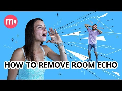 Noise reduction: reducing echo in a video studio at HOME
