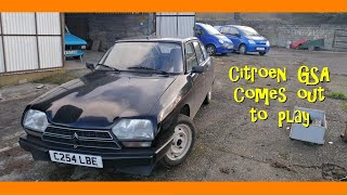 Citroen GSA comes out to play - with mild battery peril.