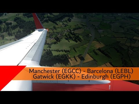 P3D V4.3 - Jet2 737-800 - Manchester To Barcelona (EGCC-LEBL)