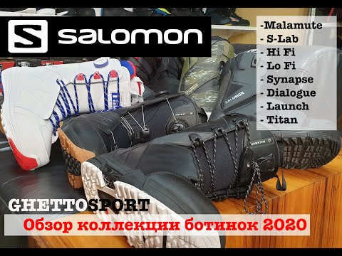 ботинки для сноуборда Salomon 2020 обзор - Salomon Snowboard Boots 2020 -