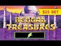HIGH LIMIT ACTION! Lightning Link Bengal Treasures Slot - $25 MAX BET!