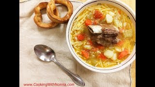 Rossella and nonna romana are making a classic italian brodo di carne - beef soup, traditionally made every saturday in nonna's home.full recipe here: https:...