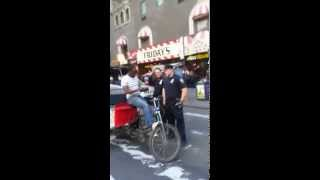 Police Officer Decides Not to Illegally Inspect the Pedicab After Filming Starts