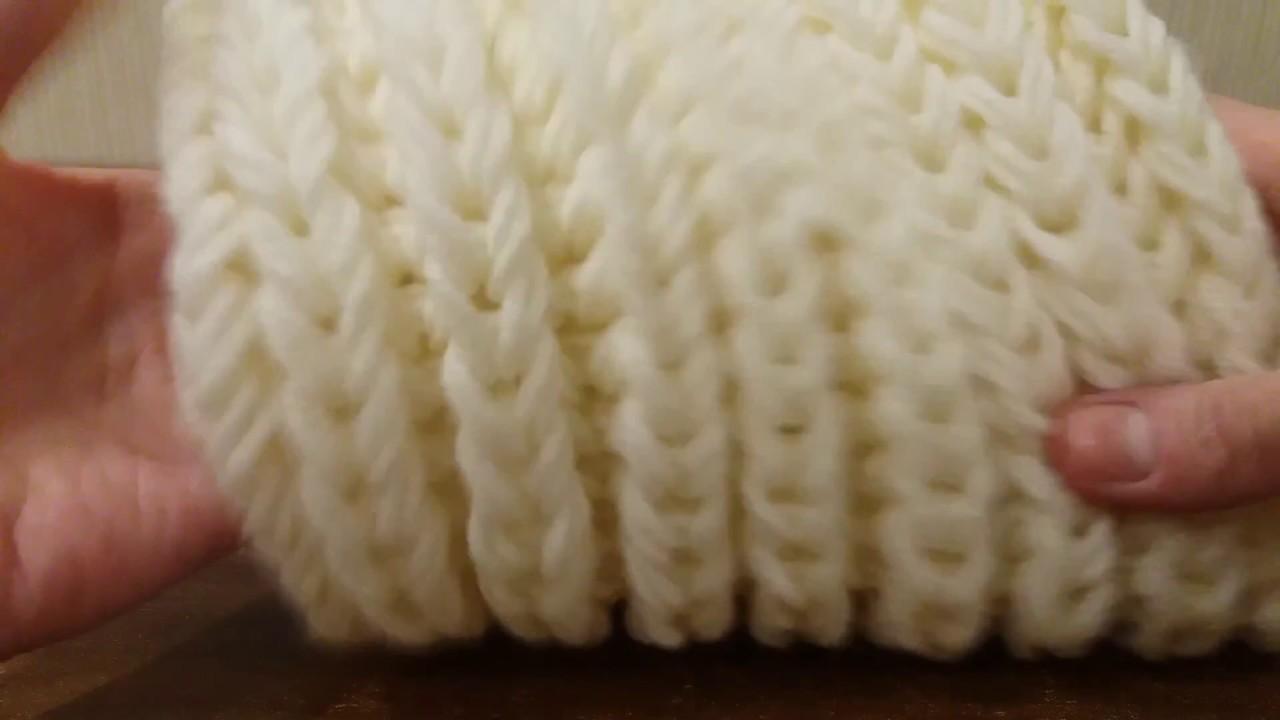 вязание шарф снуд хомут спицами объемная английская резинка без