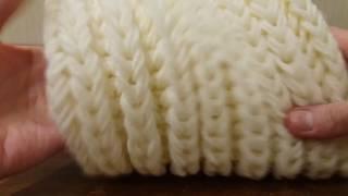 Вязание: шарф- снуд (хомут) спицами- объемная английская резинка без накидов.