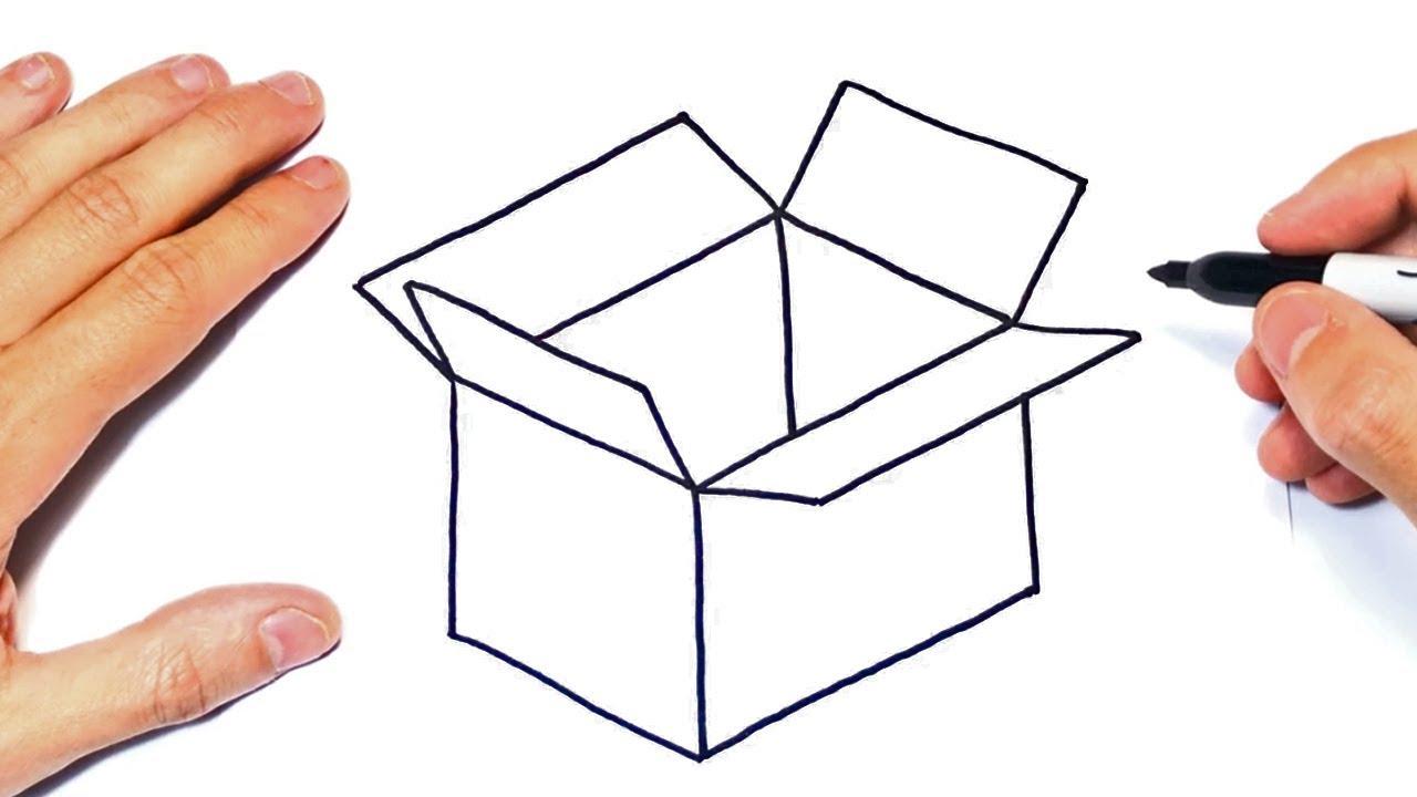 Cómo Dibujar Una Caja Paso A Paso Dibujo De Caja Youtube