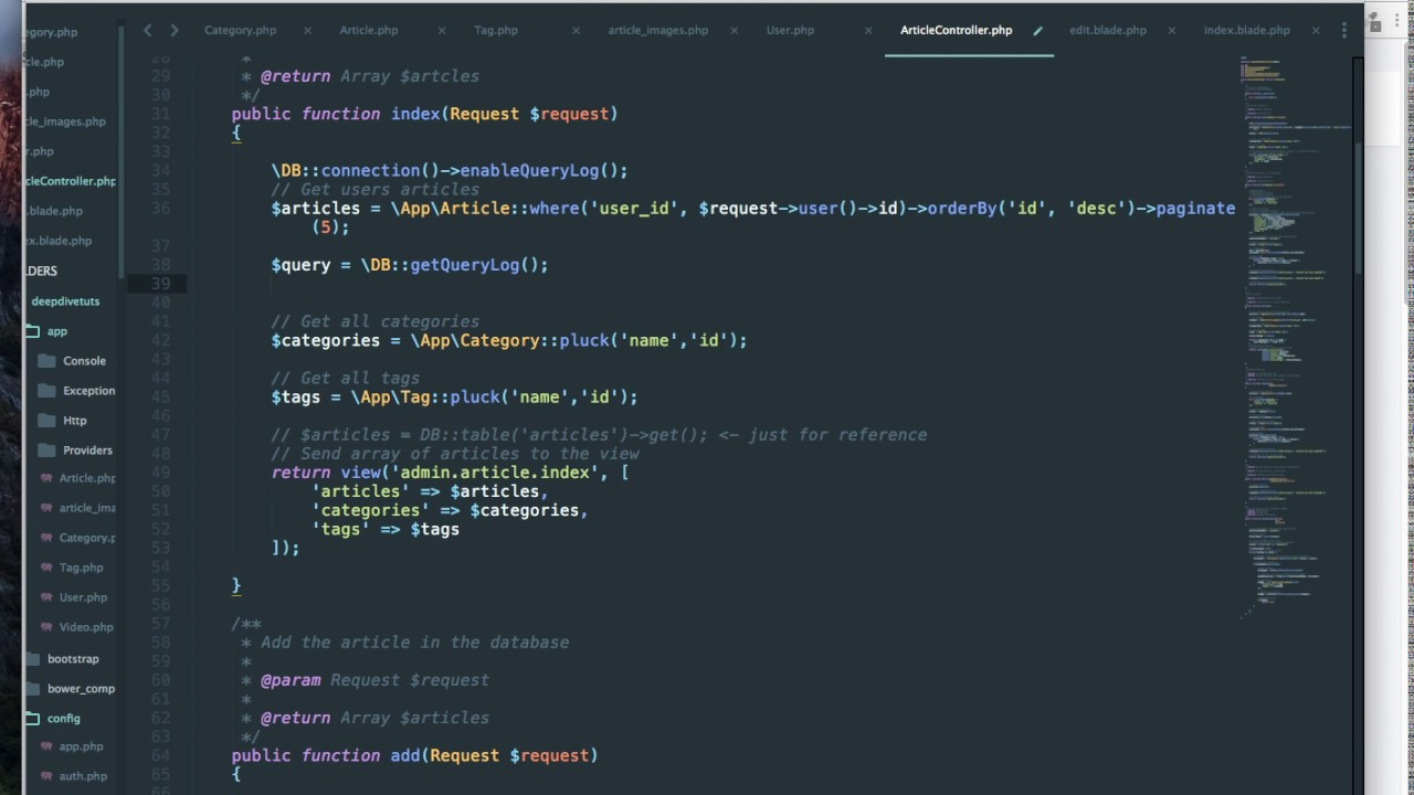 Laravel Tutorial: ORM to raw SQL queries logging to debug queries