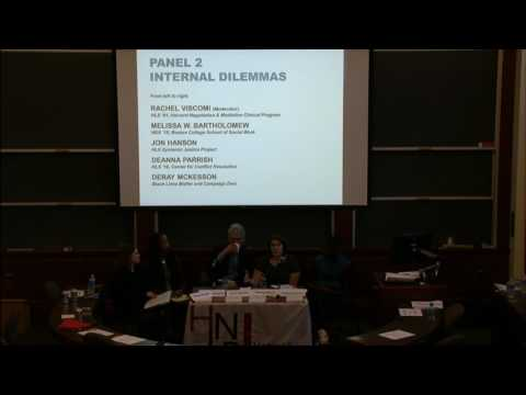 Harvard Negotiation Law Review 2017 Symposium: Panel on Internal Dilemmas