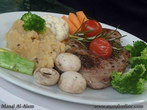 ستيك الفلفل الاسود مع الخضراوات - مطبخ منال العالم