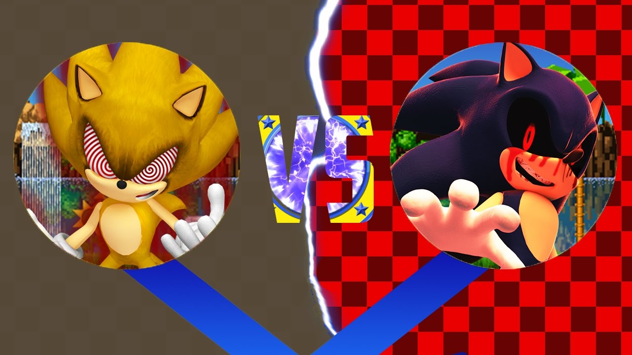 Sonic Epic Fights: Fleetway Super Sonic VS Sonic EXE (pivot sprite battle)