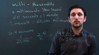 How to Convert Minutes to Milliseconds : Math Conversions