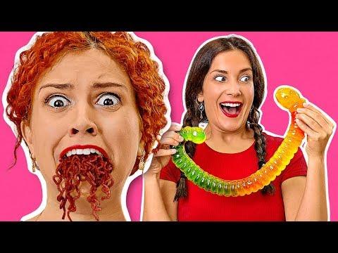 KẸO DẺO VS. ĐỒ THẬT || Ăn Kẹo Dẻo Lớn Nhất Quả Đất! THỬ ĐỒ ĂN KHỔNG LỒ Với 123 Go!Challenge