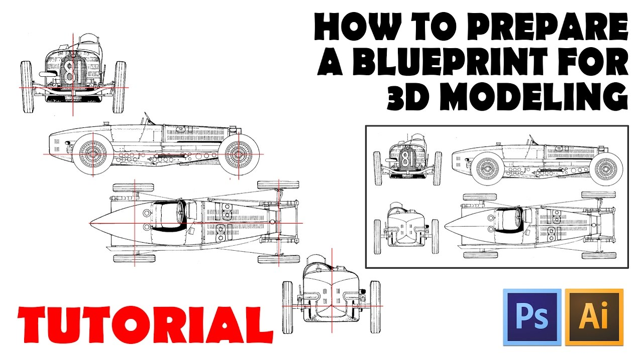 How to prepare a blueprint for 3d modeling youtube malvernweather Image collections