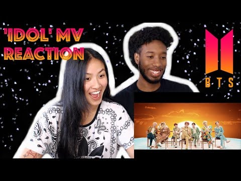 BLASIAN COUPLE REACTS TO BTS (방탄소년단) 'IDOL' OFFICIAL MV | REACTION