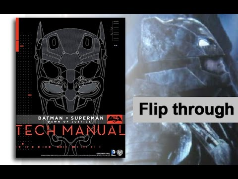 batman v superman tech manual art book flip through preview youtube rh youtube com Manuel Tech Manuel Tech Career Center