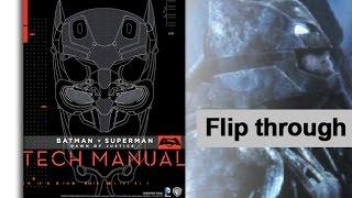 Batman V Superman Tech Manual Art Book Flip Through Preview