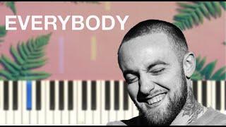 Mac Miller - Everybody - Piano Tutorial