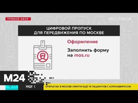 В столице с 27 мая будут действительны лишь московские цифровые пропуска - Москва 24