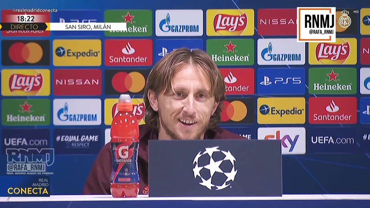 Rueda de prensa de MODRIC Inter de Milan - Real Madrid CF (24/11/2020)