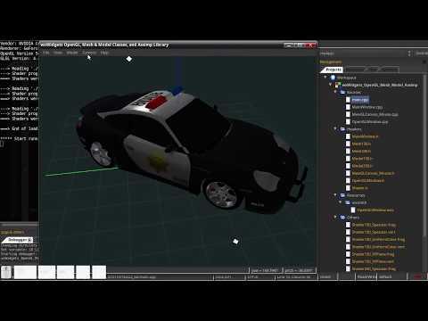wxWidgets + Modern OpenGL + Assimp Library