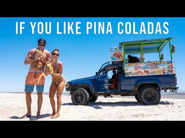 We Find The Best Pina Colada in Baja?! - Beach Day in San Felipe - Van Life Mexico Ep 56