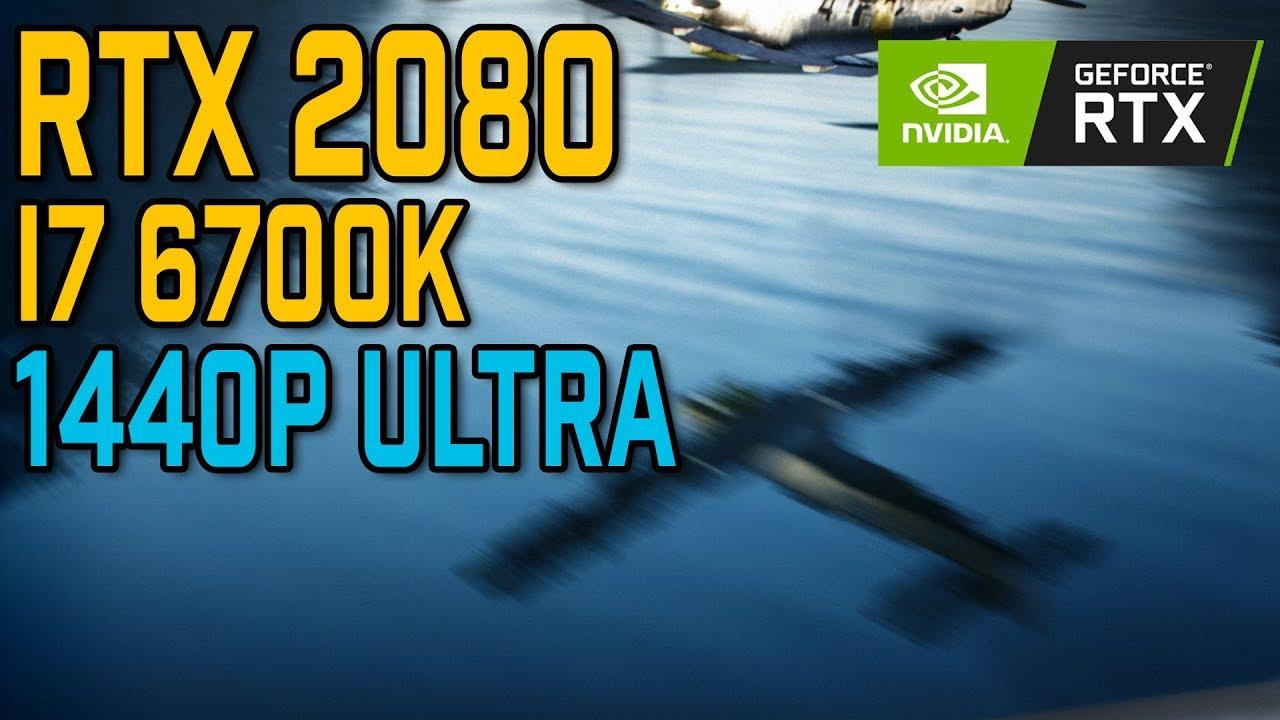 Battlefield V | RTX 2080 & i7 6700K | 1440p Benchmark | Ray Tracing (Ultra)  + Ultra Settings