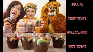 JELL-O Creations Dessert Kits || Recipes To Make With Kids || Oreo Dirt Cups For Halloween