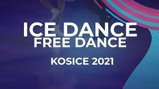 Sofya Tyutyunina Alexander Shustutskiy RUS ICE DANCE FREE DANCE Kosice Week 3 2021 JGPFigur
