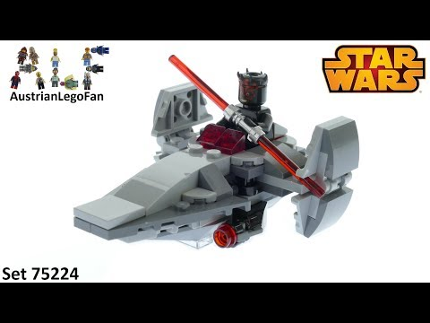 Lego Star Wars 75224 Sith Infiltrator Microfighter - Lego 75224 Speed Build