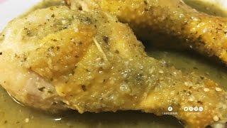 Muslos pollo en verde y piernas salsa