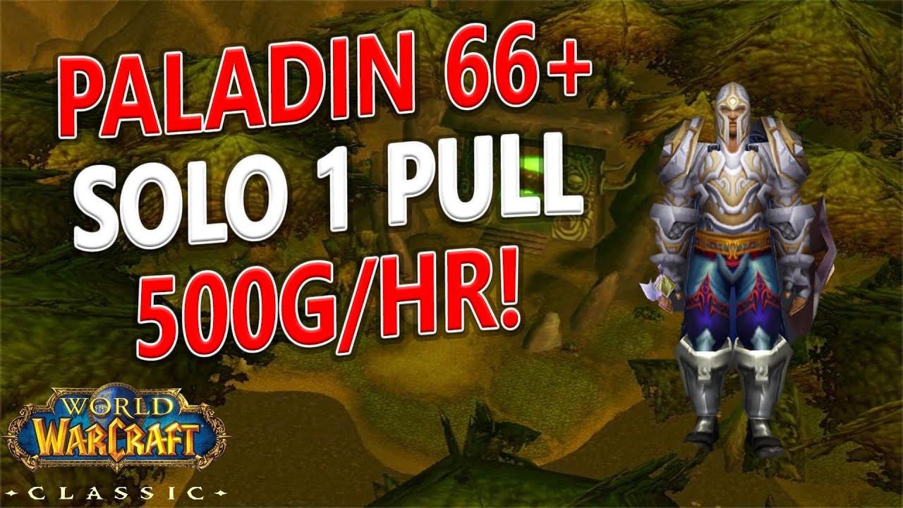 WoW Classic - Paladin SOLO 1 Pull - 500g/hr! Black Morass AOE Farm!